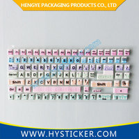 Hot sale Japanese 3d laptop keyboard sticker for decoration