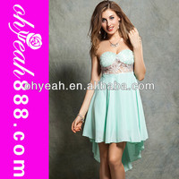 Elegant and Noble before long after the short skirt prom dress
