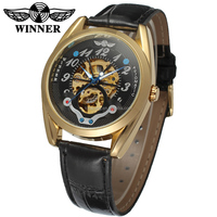 2016 Winner skeleton automatic custom logo watch stainless steel watches