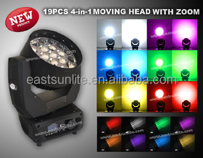 LED Lighting 19x15w b-eye mac aura moving head for concert