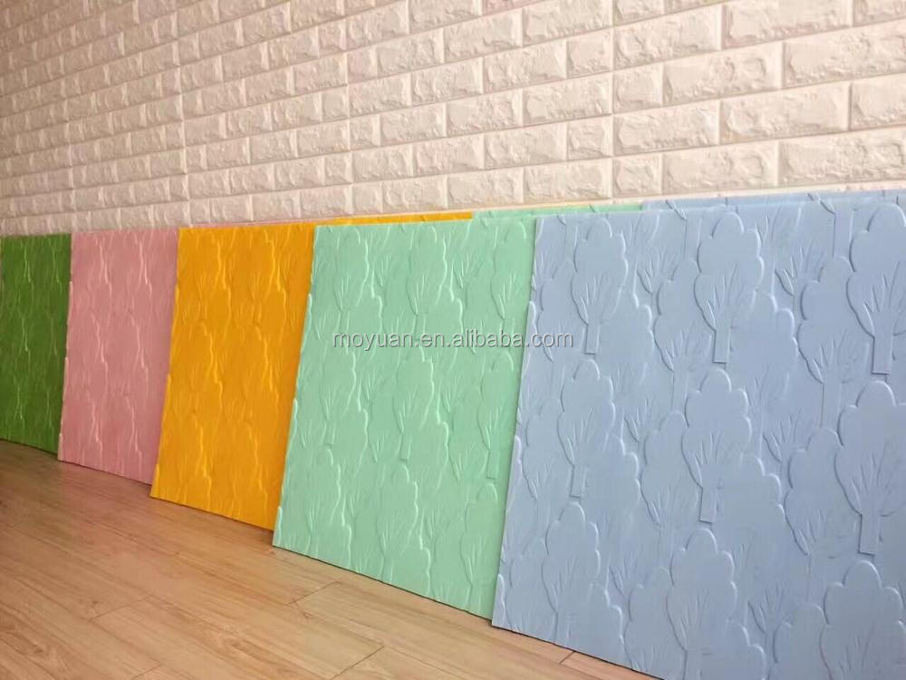 2017 hot sale 3D wall stickers of different colors brick shaped