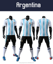 2018 world cup soccer blue and white stripe Argentina soccer Jersey