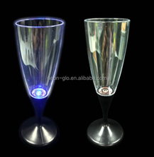 Multi-Color Champagne Glass LED Flashing Glass For Bar
