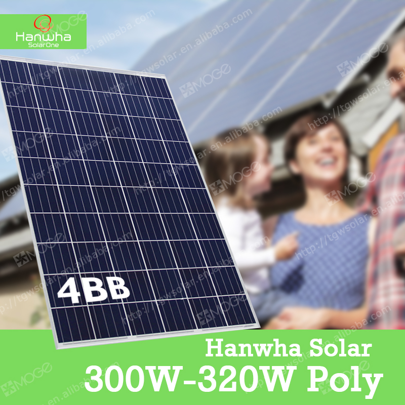 Hanwha A grade the lowest price 300w 305w 310w 315w 320w photovoltaic solar panel,best sold in Myanmar