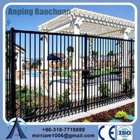 USA standard Hot dip galvanized steel pipe Decorative PreFab Fencing