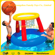Hot selling PVC tarpaulin indoor inflatable basketball hoop/inflatable pool basketball hoop