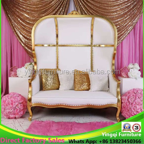 Luxury French Wedding Loveseat Dome Chairs for Sale