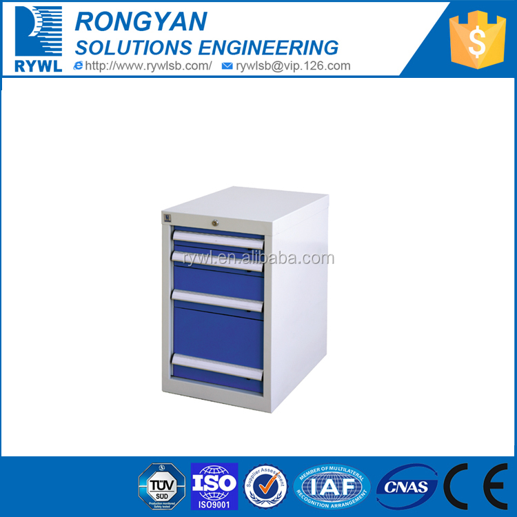 2015 Hot sale RYWL Galvanized Cold-rolled Steel heavy duty tool box and tool cabinet on wheels