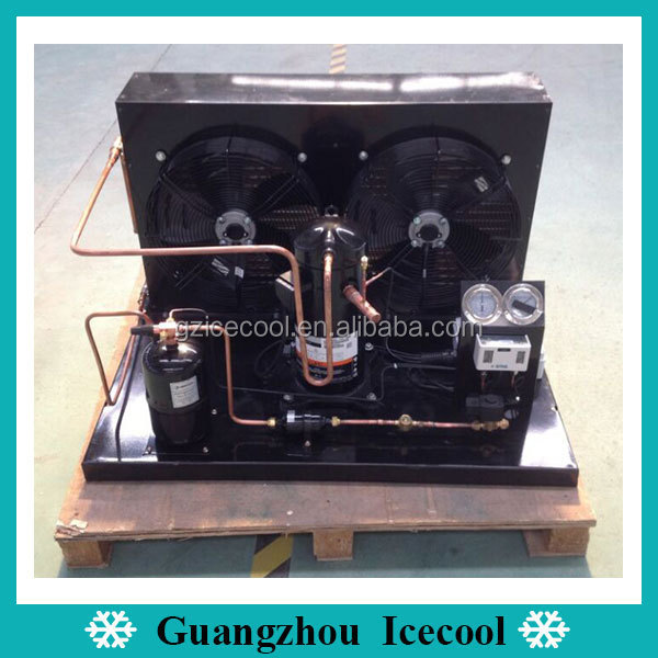 Hot Sale R404a Copeland Scroll ZB Compressor Refrigeration Air Cooled Condensing Unit from 2~15HP