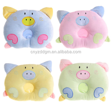 OEM/ODM Newborn Infant Baby Pillow Sleeping Support Prevent Flat Head Cushion Plush Animal Shape Cute Soft Pillow