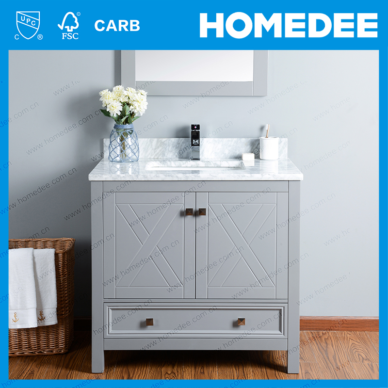 HOMEDEE oak bathroom cabinet modern vanity