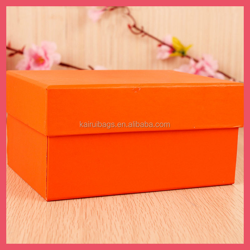 2014 beautiful orange gift paper <strong>box</strong>