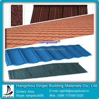 1340mm*420mm Interlocking glazed metal roofing tile