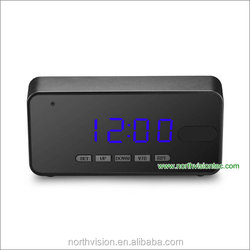 Charging While Recording HD PIR Motion Detect Video Camera Alarm Clock Night Version Security Hidden cctv Camera Clock