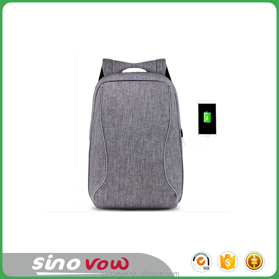 "Fashion USB charging laptop backpack for 15.6"" 17"""