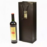 Eco-friendly paper material wine bottle gift bag
