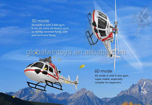 XK K123 6CH Brushless AS350 Scale 3D6G System RC Helicopter Remote Control Toy Helicopter RTF Drone