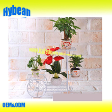 New Wrought Iron Bicycle Garden Basket 3 Tier Patio Porch Plant Flower Pot Stand