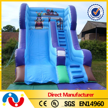 2015 hot sale large inflatable swimming pool slide inflatable slide with pool for adult at cheap price