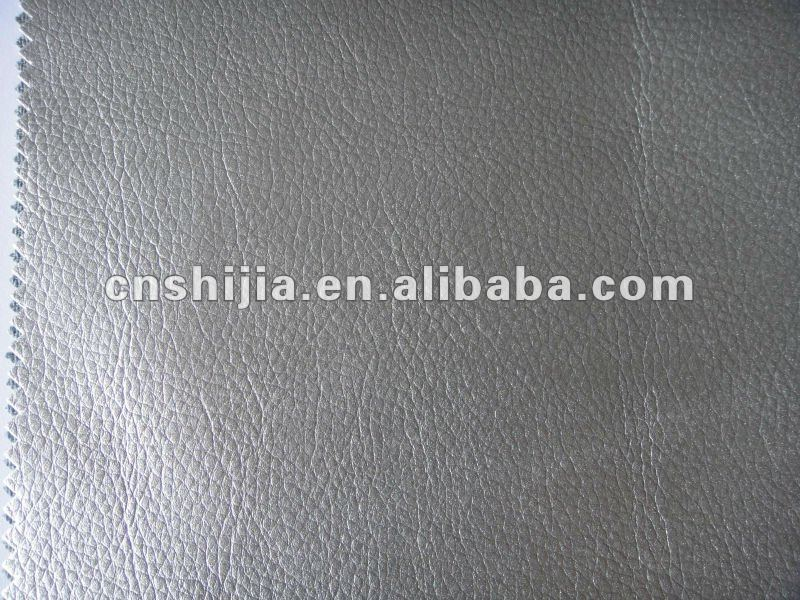 Pu leather for sofa in Metallic color fire proof BS5852