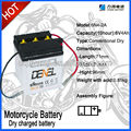 6N4B-2A-5 Standard rechargeable motorcycle battery 6V 4AH