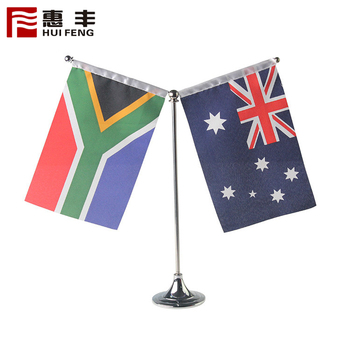 2 Flags Plastic Table Flag Stand
