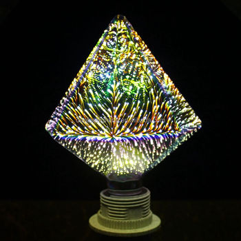 2016 Unique design diamond shape 360 degree 3D fireworks LED bulb