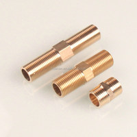"2"" BSPT Brass Male Thread Hex Nipples Connector Pipe Fitting"