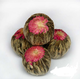 2017 fresh green tea ball individual wrapped blooming flower tea