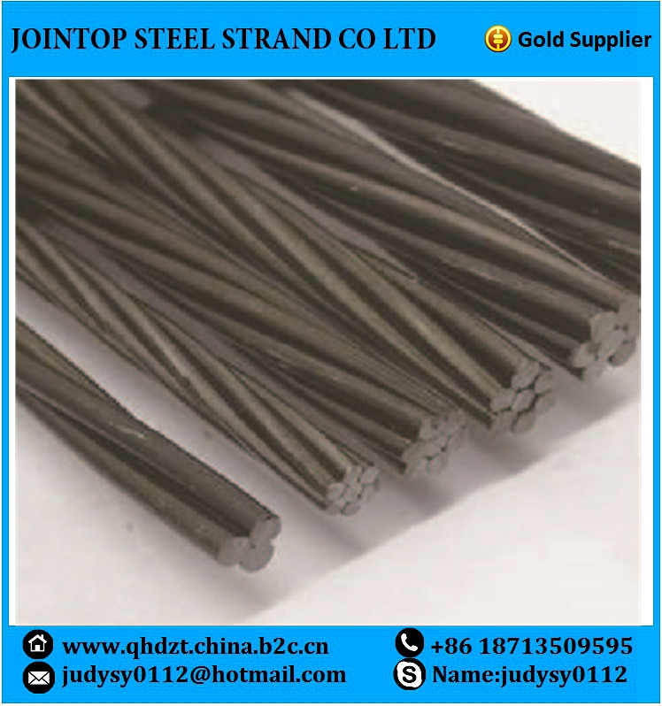 1x3 wire prestressed concrete steel strand 12.7mm low relaxation high carbon of SWRH 77B
