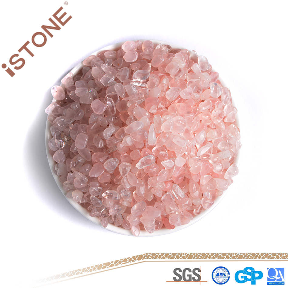 Natural Gemstone Tumbled Stone Rose Quartz Stone Chip