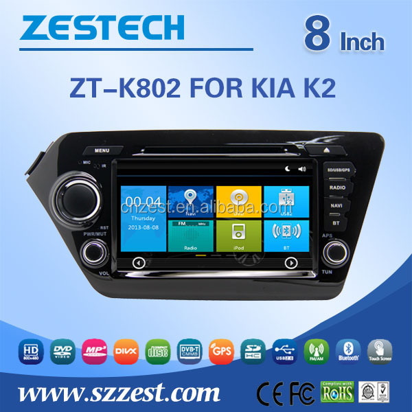 HD 800*480 touch screen car dvd for kia k2 car dvd player built in GPS naviation