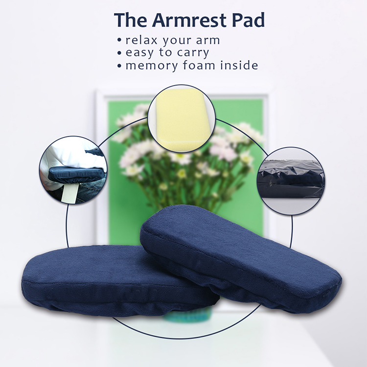 Ergonomic Soft Washable Car Office Chair Armrest Cushion Arm Rest Pads