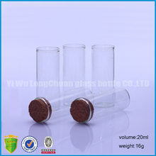 20ml Clear Mini Wishing Message Glass Bottles Jars Tubes Vials With Cork Stoppers