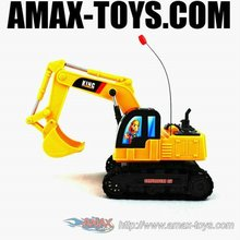 re-6906a kids radio control engineering vehicle rc bulldozer toy
