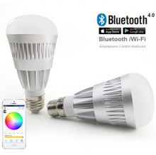 Bluetooth low energy dimmable light bulbs remote control /phone control glass music bulb