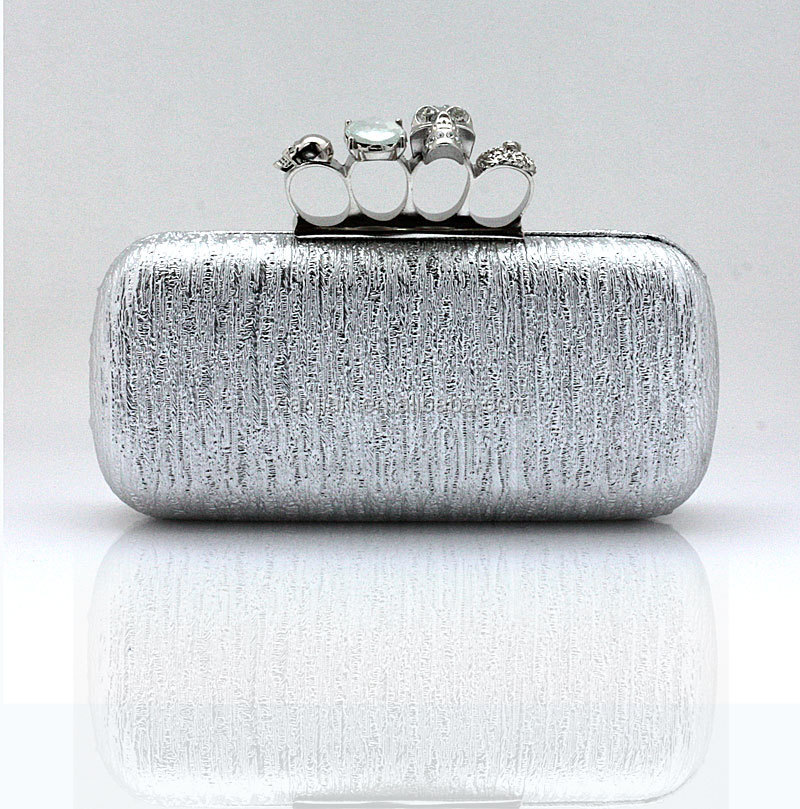 Party Stone Ring Skull Clutch Box Bag Evening Bag Purse (LCHEB138)