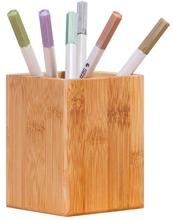 <strong>Bamboo</strong> Wood Makeup Brush Cup Desktop Organizer <strong>Pen</strong> Pencil <strong>Holder</strong>