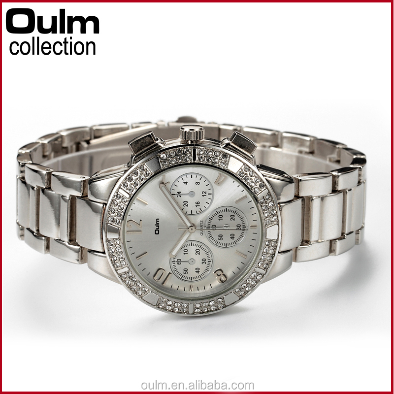 2015 oulm new design lady vogue watch, quartz wrist watch with diamond