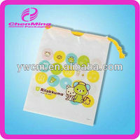 Yi wu custom small plastic drawstring gift bag