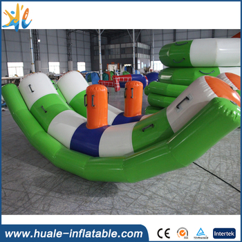 Favorable inflatable water totter/inflatable floating totter for entertainment