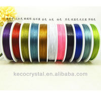 jewelry making wire, colorful plastic coated wire