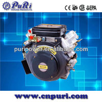 20HP diesel engine 13KW 4-stroke Vertical V-twin cylinder diesel engine 20hp