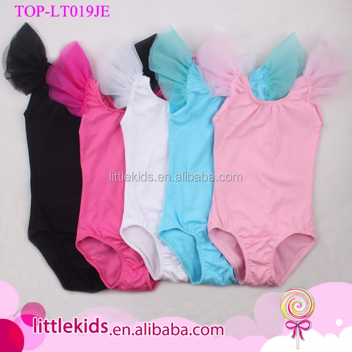 Flutter Sleeve Toddler Baby Leotard White Girls Blank Wholesale Ruffled Ballet Leotards