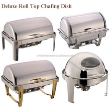 Various Design High End Mirror polish roll top chafing dish
