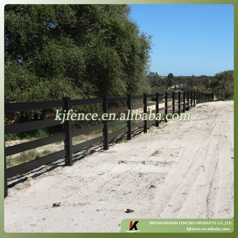 Black color PVC farm fence