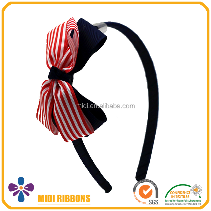 Clear fashion Ribbon Bow baby hairband flower headband for hair accessories