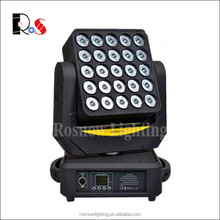 Disco club lighting 25x10W rgbw 4in1 wash matrix effects moving head led dj equipment