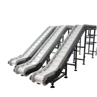 Low Maintenance Inclined Belt Conveyer / Food Modular Conveyor