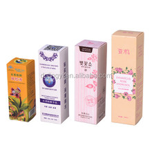 China new folding style essential oil bottle paper packaging box wholesale
